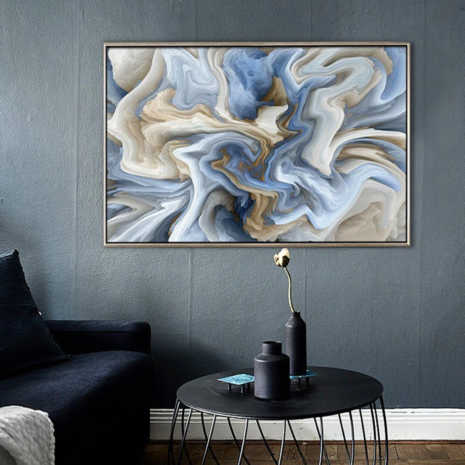 Blue Marble Abstraction Wall Art Fine Art Canvas Prints Pastel Color C Nordicwallart Com In 2020 Texture Painting On Canvas Unique Wall Art Etsy Wall Art