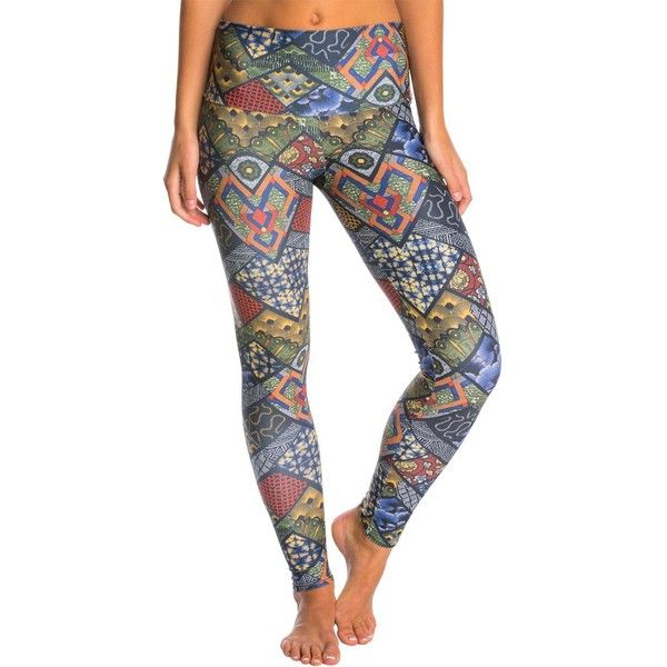 Onzie High Waist Long Yoga Leggings ($69) ❤ liked on Polyvore featuring activewear, activewear pants, yoga activewear and onzie