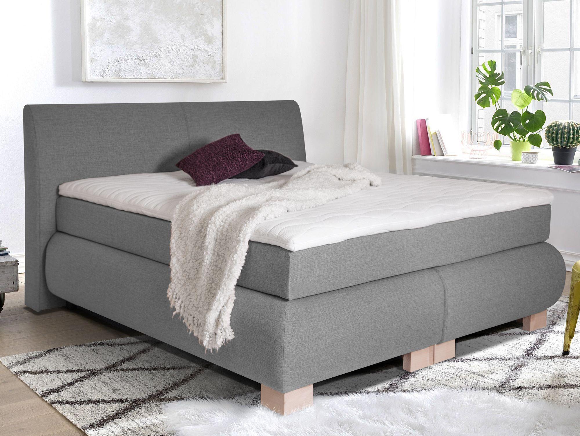 Luxus Boxspringbett In Stoff Inklusive Kopfteil Schlafzimmer