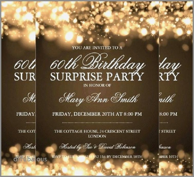 Surprise Party Invitations Free Download