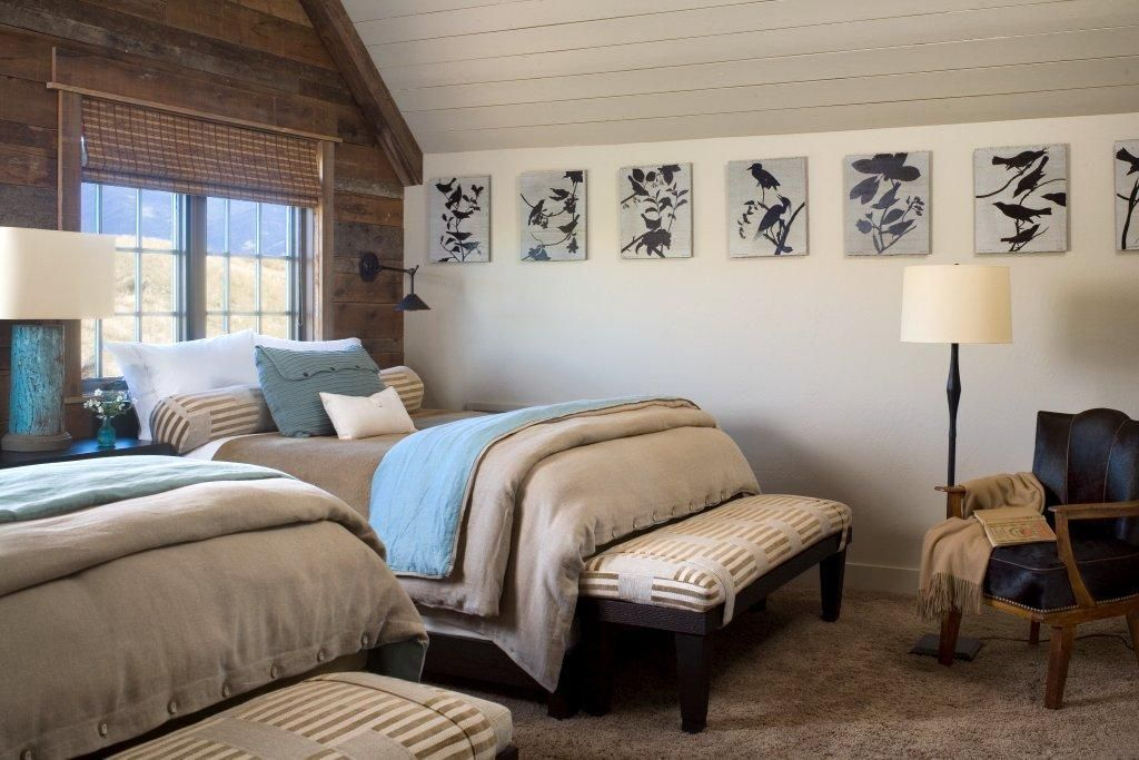 Mountain House // Carter Kay Interiors // Ennis, Montana // bedroom // wall art