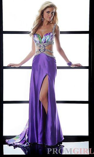 Purple Print Prom Dress by Jasz at PromGirl.com