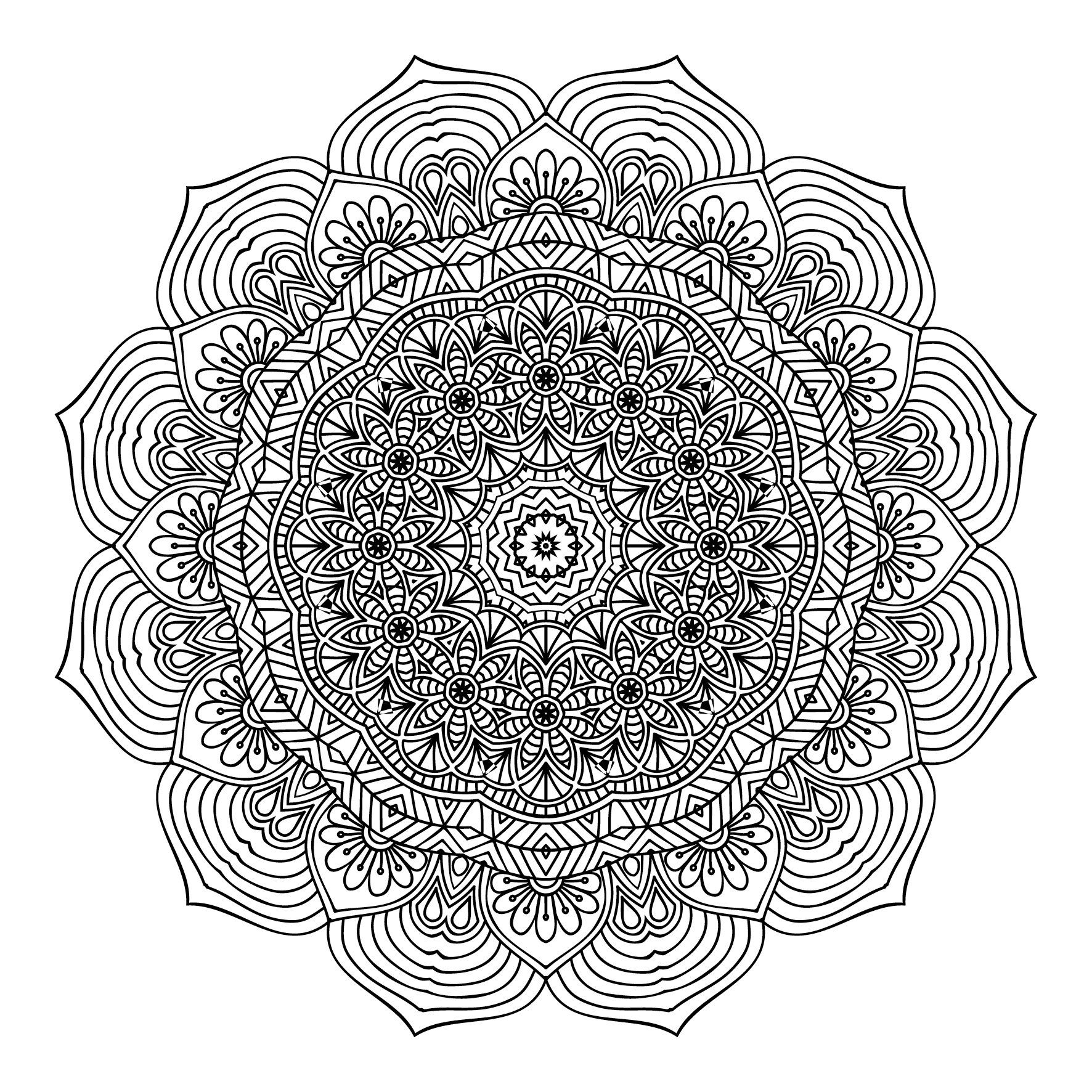 Buy The Second One And Only Mandala Colouring Book Second Mandala