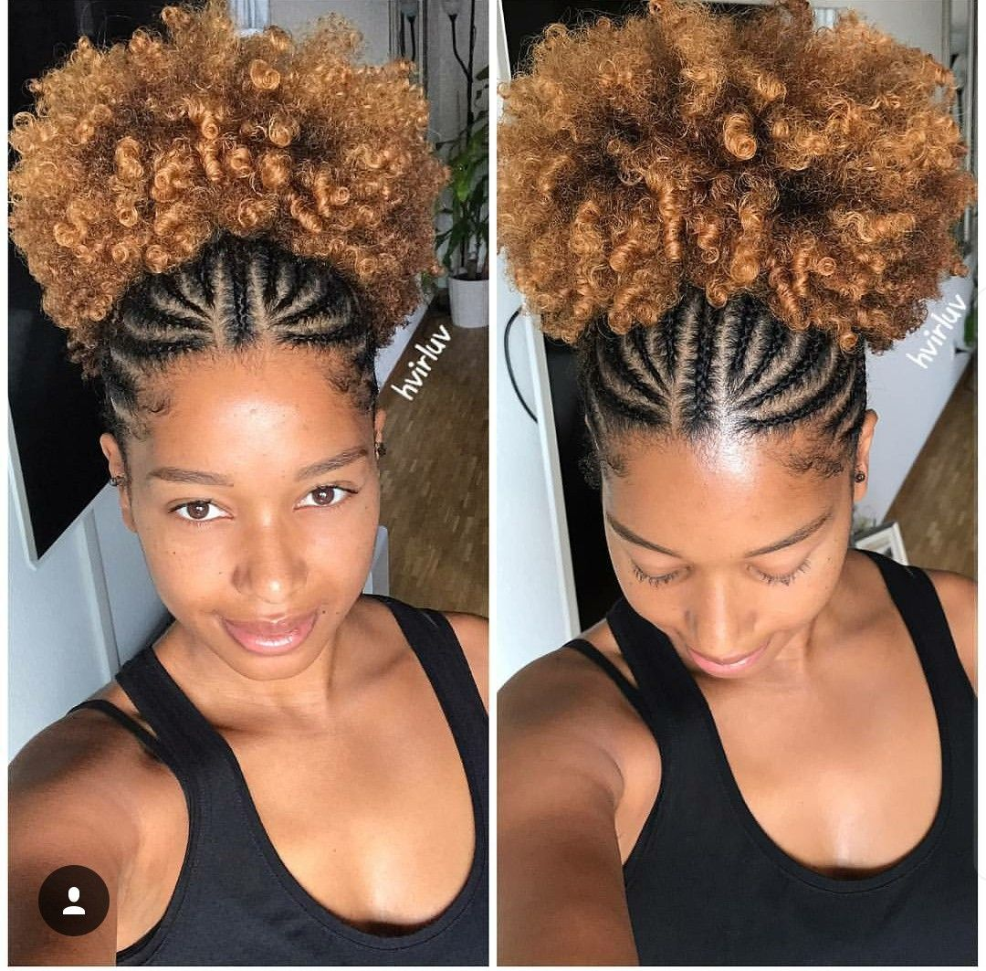 cornrows natural hair puff curly kinkyhair 2017 2018