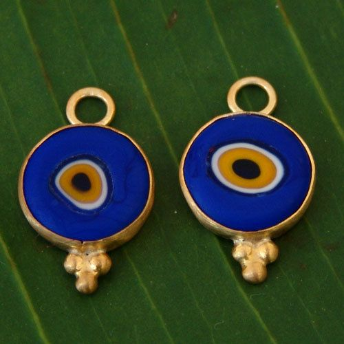 Handmade Blue Evil Eye Charms for Hoop Earrings  Design by Ferimer, $45.00