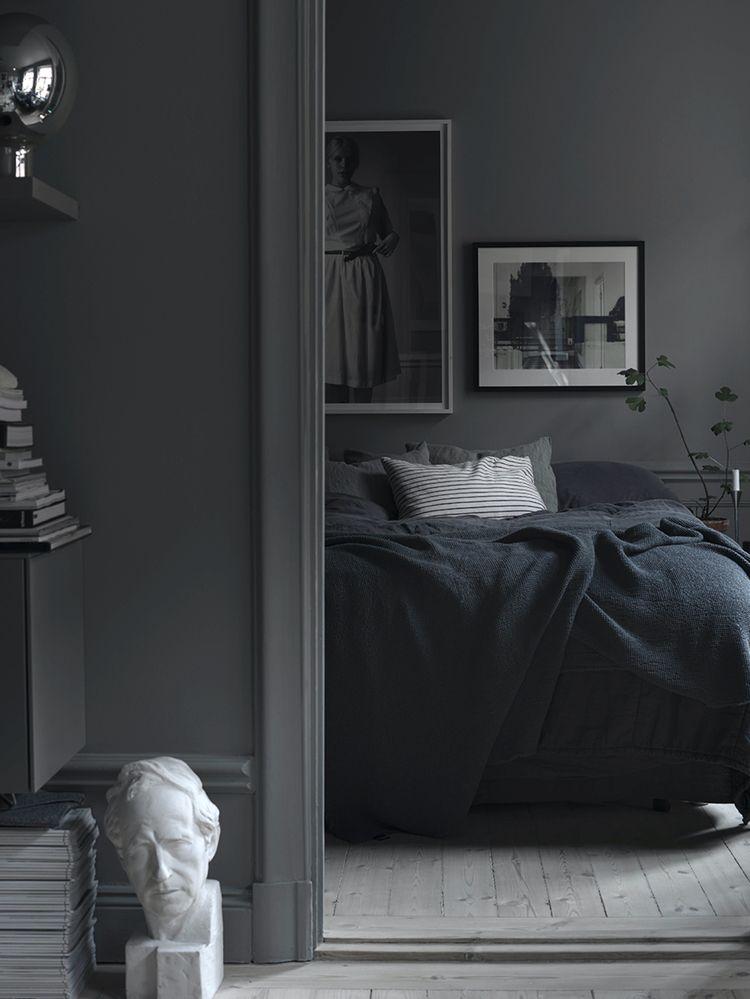 All Dark Bedroom Moody Bedroom Interior Dark Gray Bedroom Gray Interiors