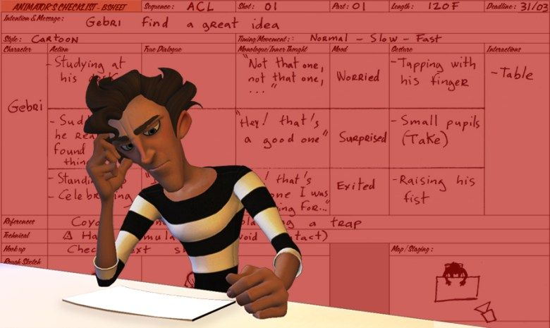 The Animator´s Checklist | B-SHEET or The tool I use to sort the director's notes