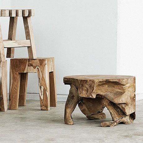 Root Coffee Table Teak Wood By Muubs Monoqi Danishdesign Interieur Meubels