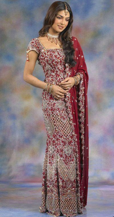 Como se llama el vestido de boda hindu