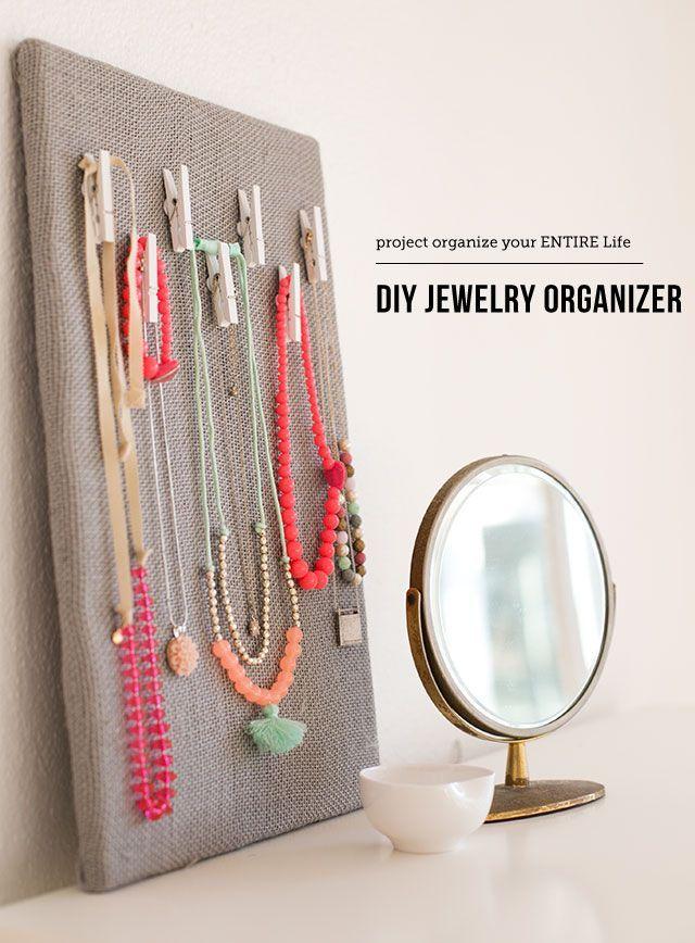DIY Jewelry Organization Board Diy jewelry organizer Craft and