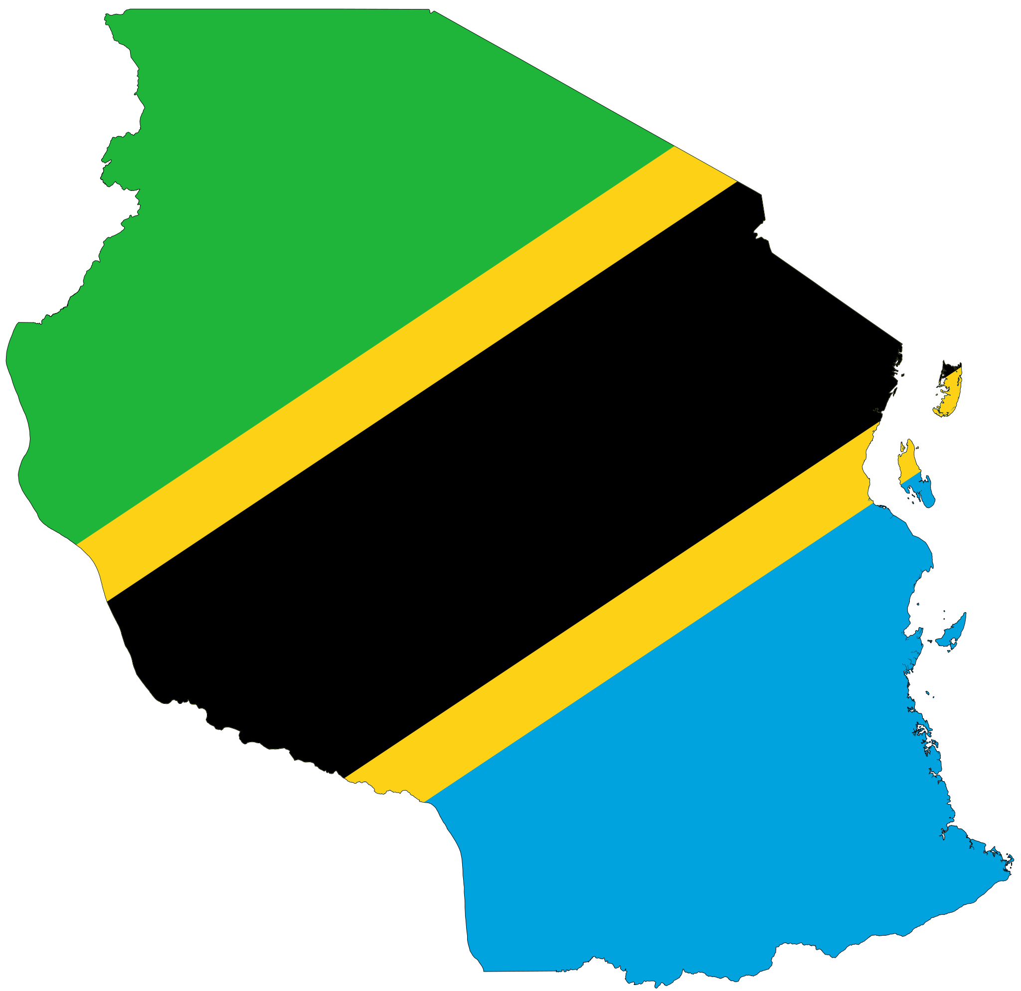 Flag Map Of Africa.Tanzania Flag Map Africa Pinterest Tanzania Africa And