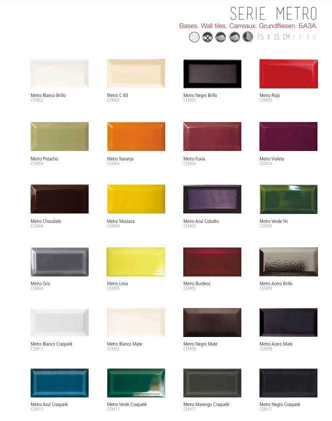 metrofliesen von cevica aus spanien format 7 5x15 cm halbe metrofliesen 7 5x7 5 cm www. Black Bedroom Furniture Sets. Home Design Ideas