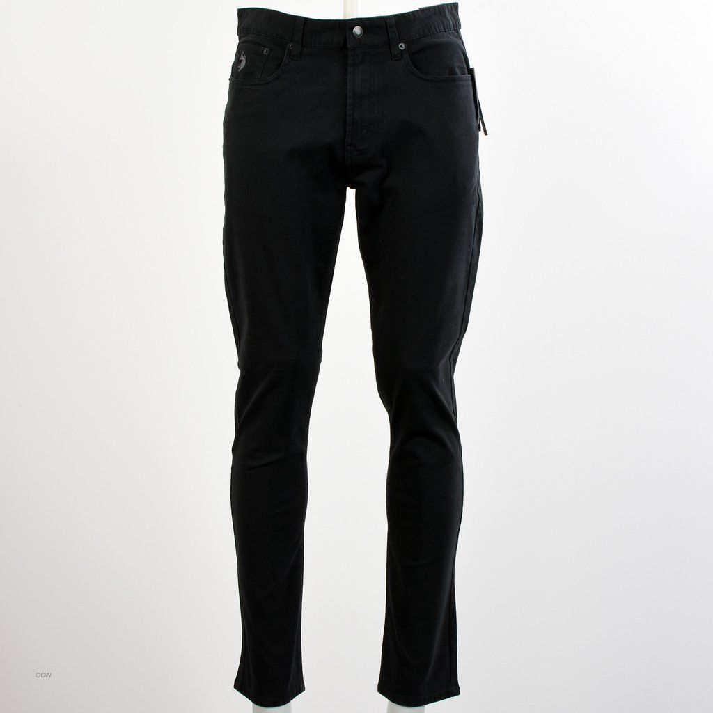 U S Polo Assn Herren Schwarz Slim Jeans Bekleidung Herrin Produkt