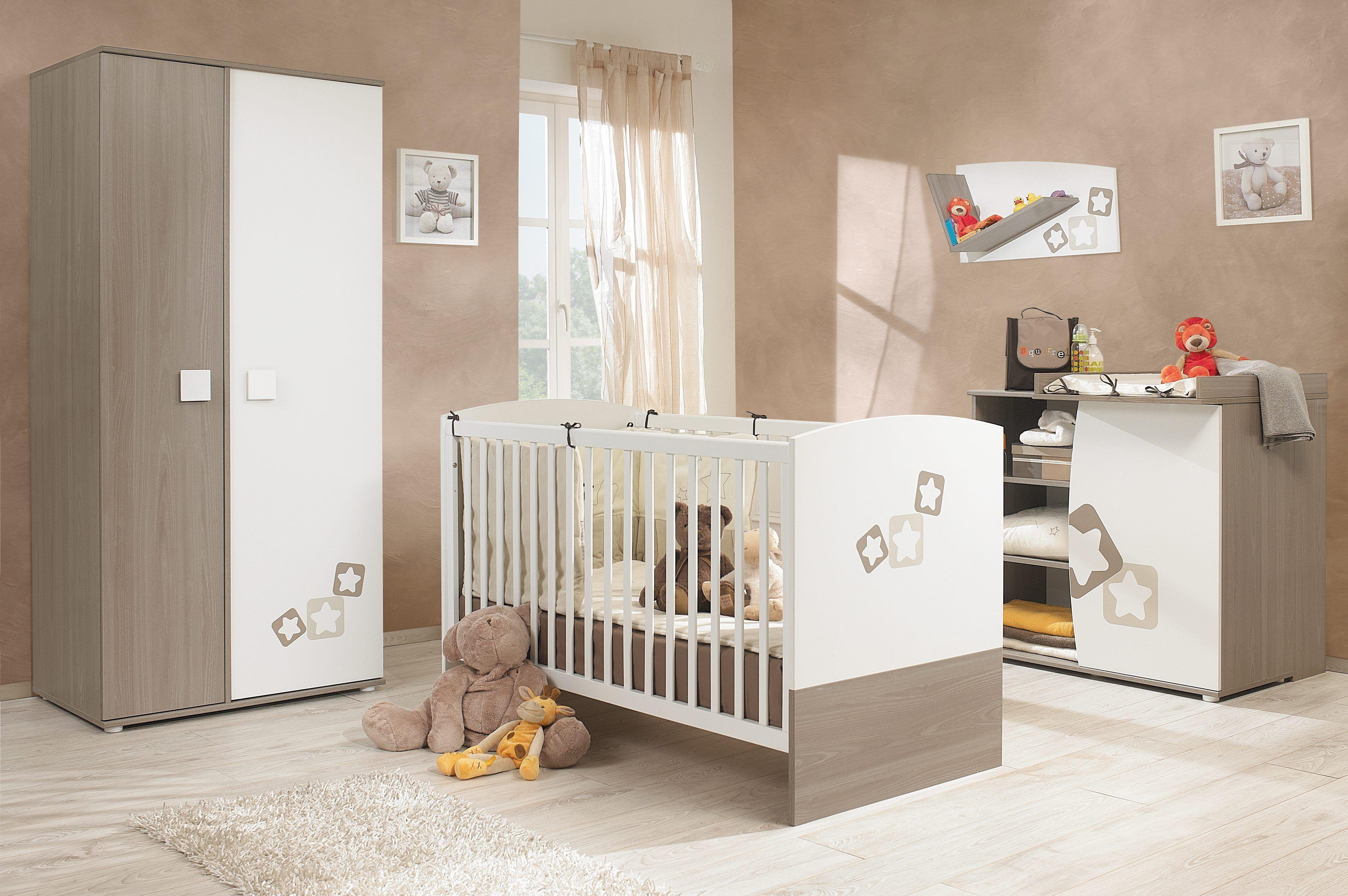 Lit bébé évolutif NOE, blanc gris taupe - BUT | Kid\'s Room ...