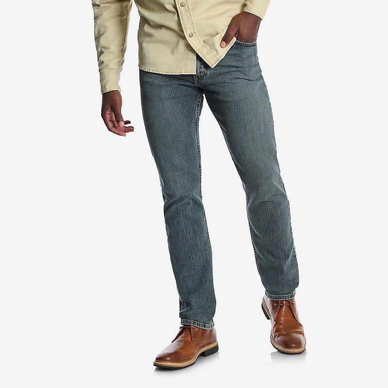 Mens regular fit flex jean comfortable jeans wrangler