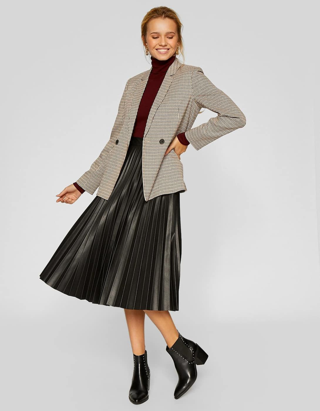 Faux leather pleated skirt Skirts and pinafore dresses