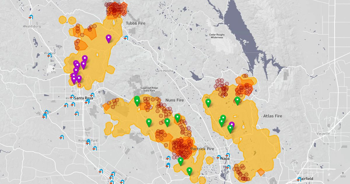 California Fire Tracker The Latest On Wildfires Across The State Interactive Map Fire Wine Country