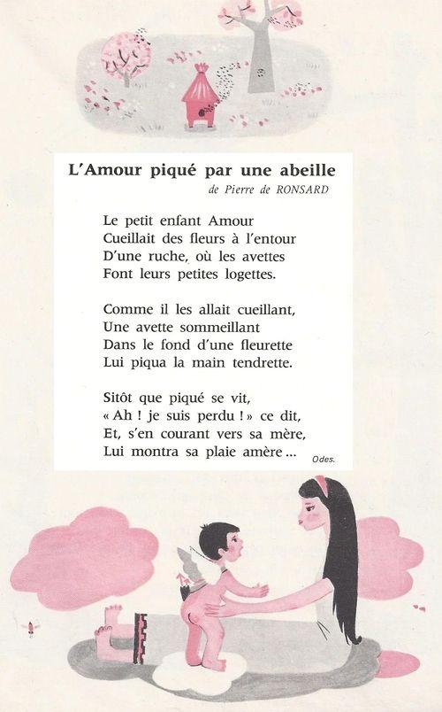 Lamour Piqué Par Une Abeille Pierre De Ronsard