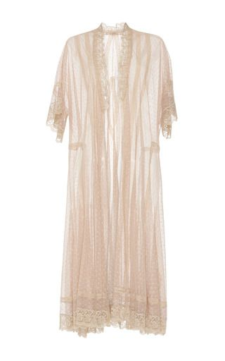 Lace And Tulle Wrap Dress by Luisa Beccaria | Moda Operandi