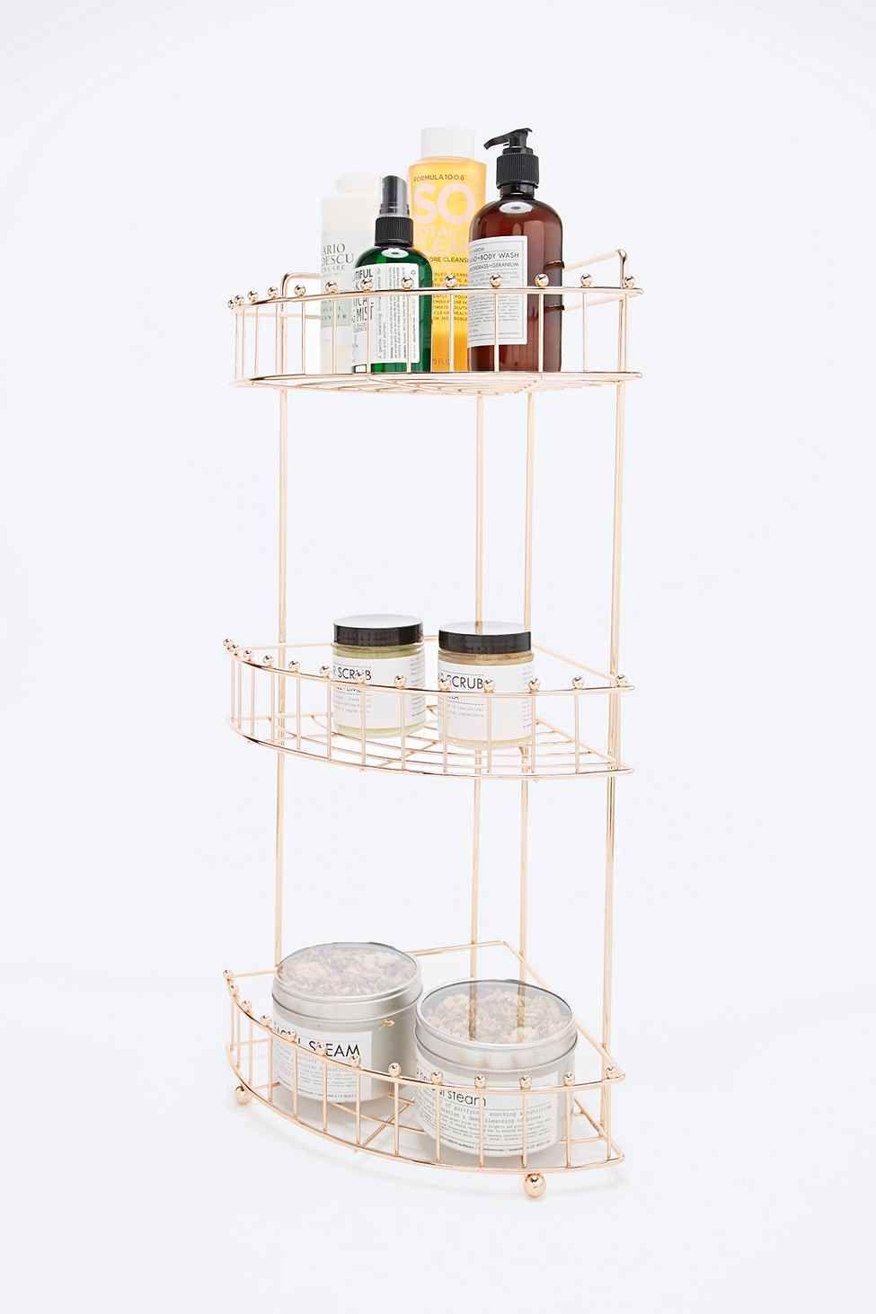 Rose Gold Corner Bath Shelf | Decorating | Pinterest | Corner bath ...