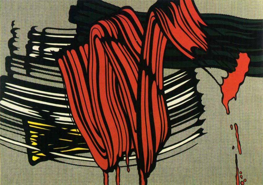"""""""Big Painting nº 6"""", 1965. Roy Lichtenstein pop art"""