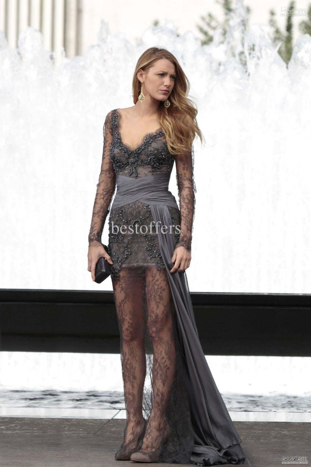 Free shipping prom gown gossip girl fashion blake lively sexy