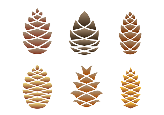 Pine Cones Logo Vector Pine Cone Drawing Vector Art Design Vector Art