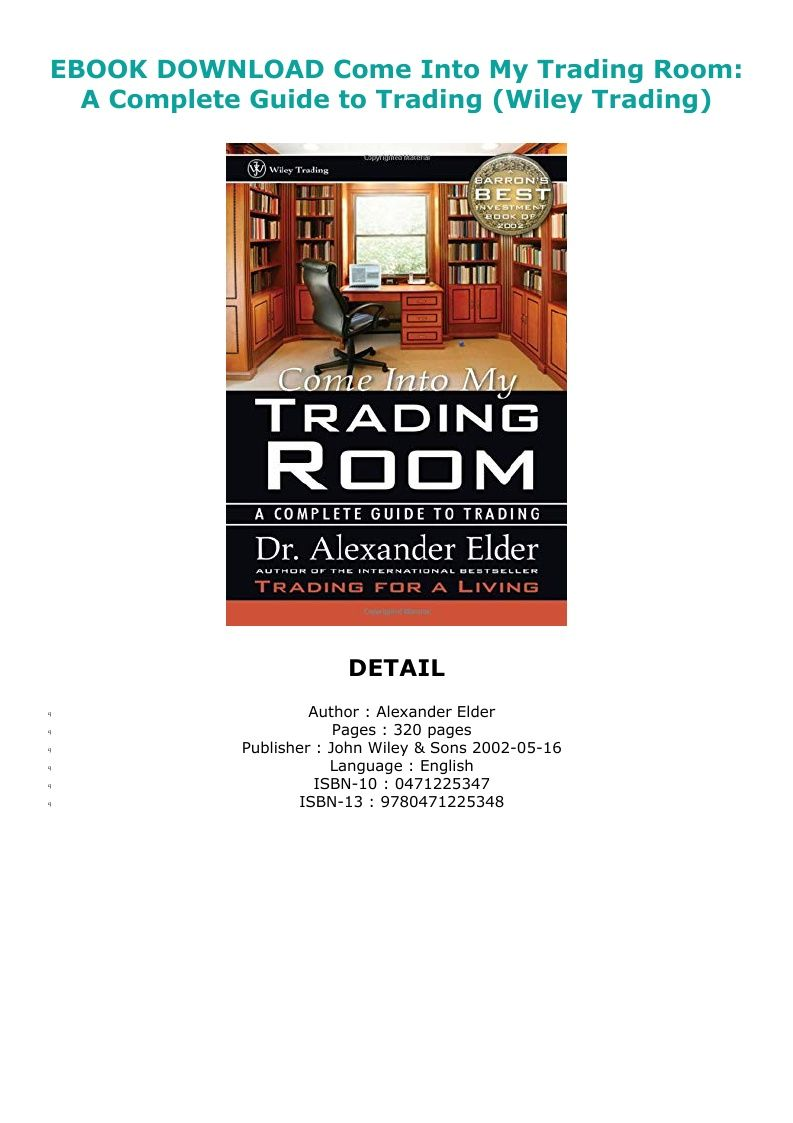 come to my trading room pdf free download