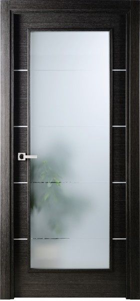 Single Interior Glass Doors avanti-vetro modern interior single door italian black apricot