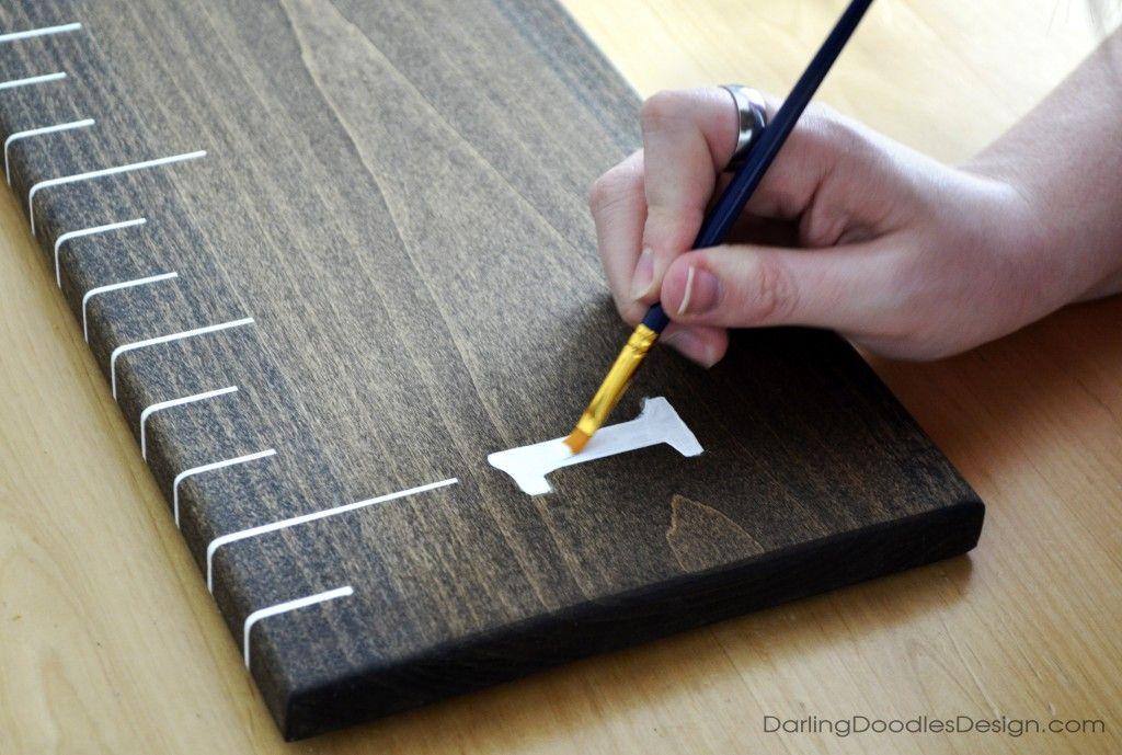 DIY Ruler Growth Chart