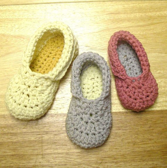 Instant Download Crochet Pattern Toddler Child Slippers Cute