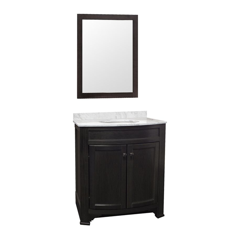 Shop Gray Undermount Single Sink Maple Bathroom Vanity with Natural ...
