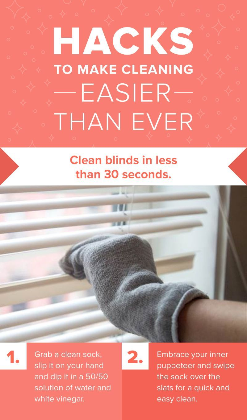 Easy To Clean Blinds.Clean Your Blinds In 1 Minute Or Less With This 2 Step Hack