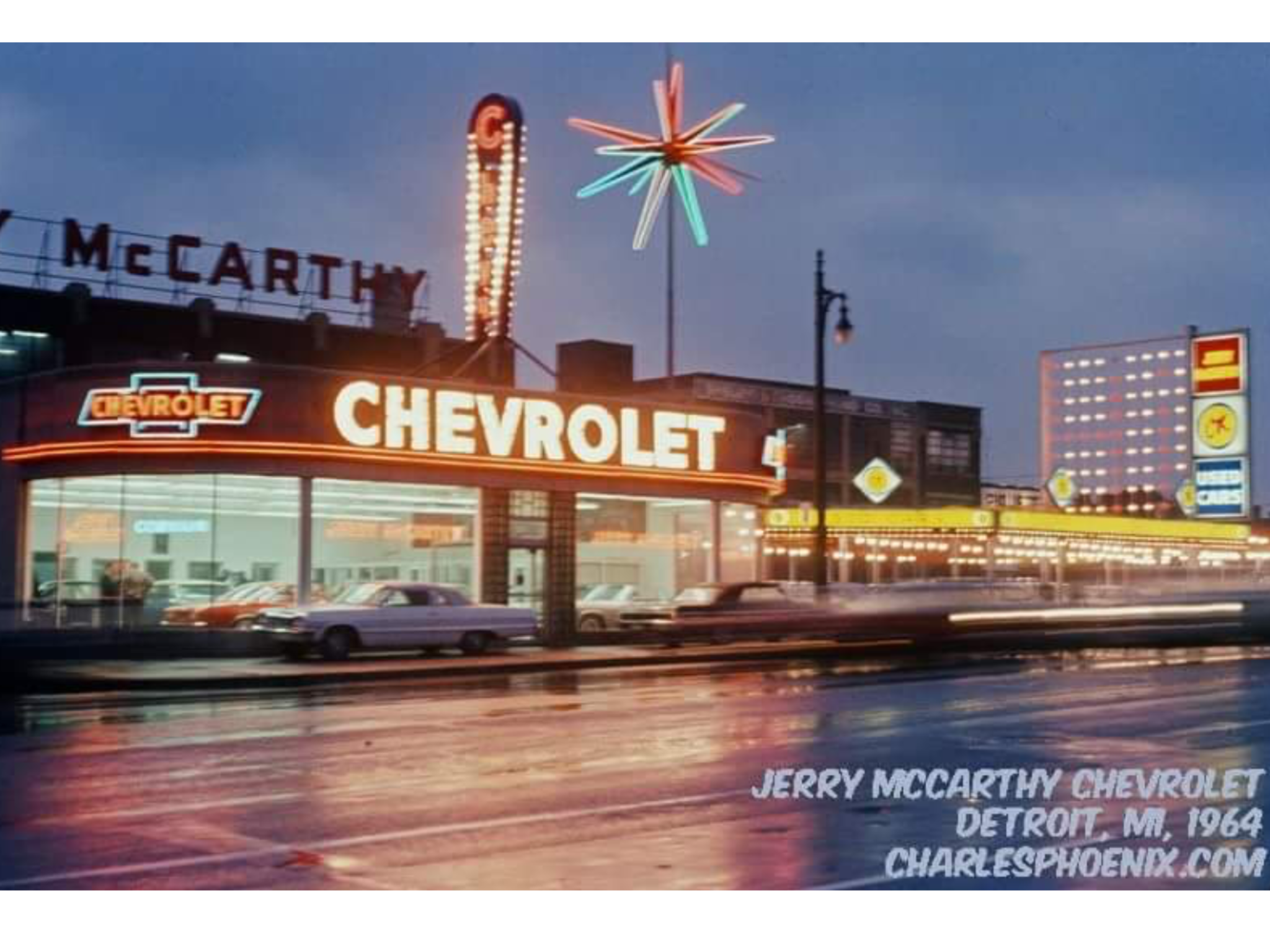 1964 Jerry Mccarthy Chevrolet Dealership Detroit Michigan Chevrolet Dealership Chevrolet Dealership