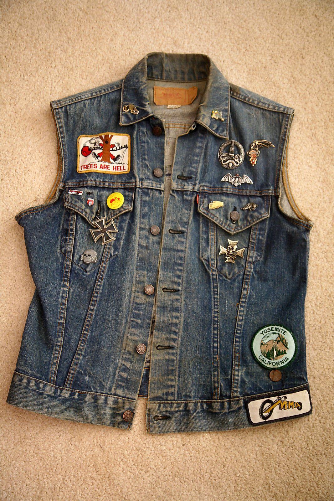Vintage Motorcycle Club Vest Ghostriders Front Motorcycle Clubs Vintage Clothing Men Vintage Denim Jeans