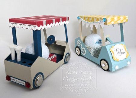 golf cart favor box template fore the golfer golf pinterest