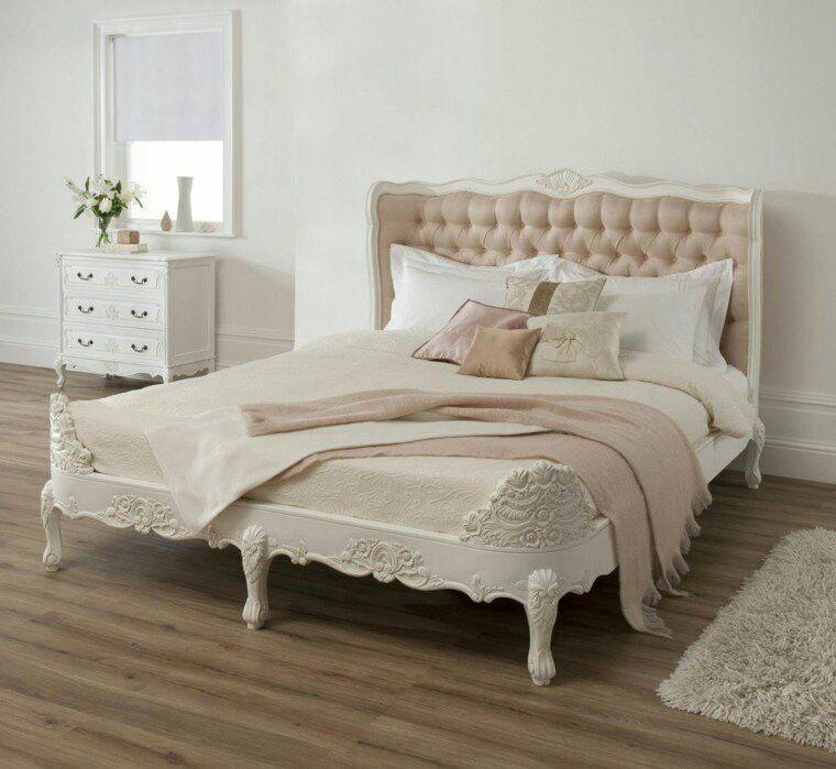Vistoso Blanco Muebles Tapizados Cabecera Rey Inspiración - Muebles ...