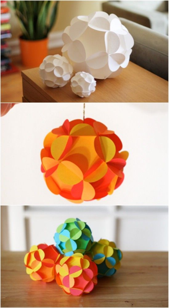 Paper Ball. 20 Hopelessly Adorable DIY Christmas Ornaments Made ... - 20 Hopelessly Adorable DIY Christmas Ornaments Made From Paper