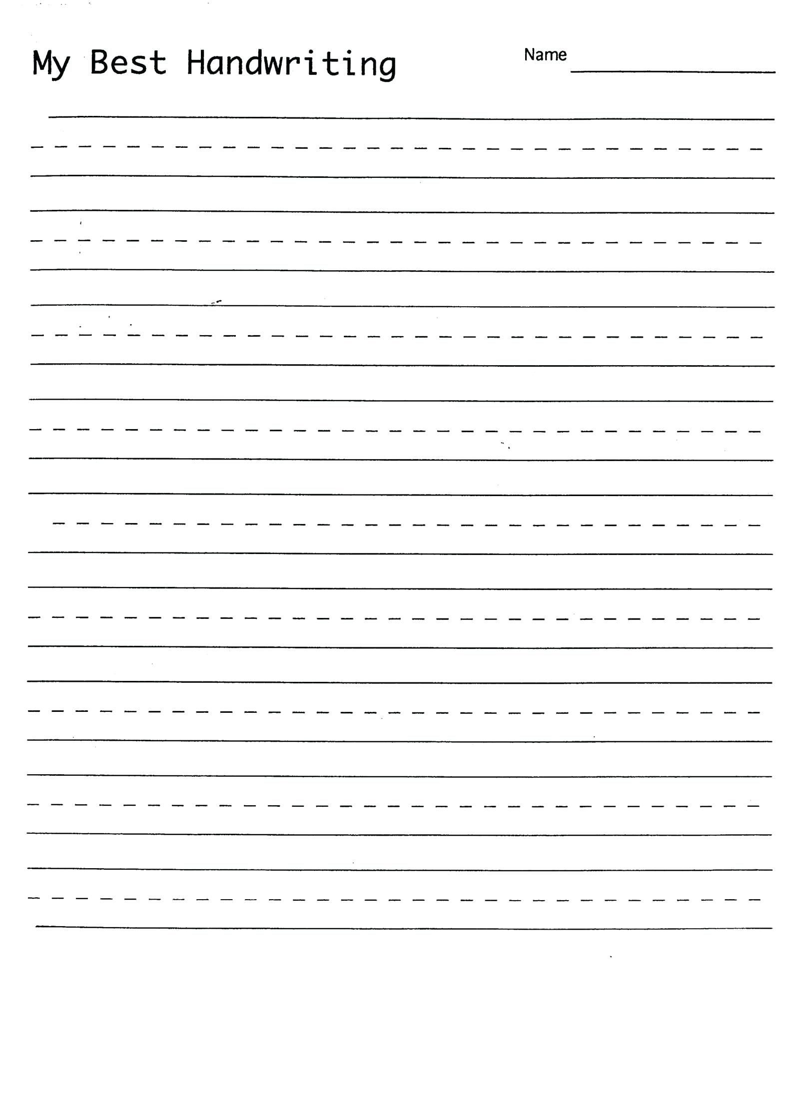 Printable Cursive Practice Worksheets
