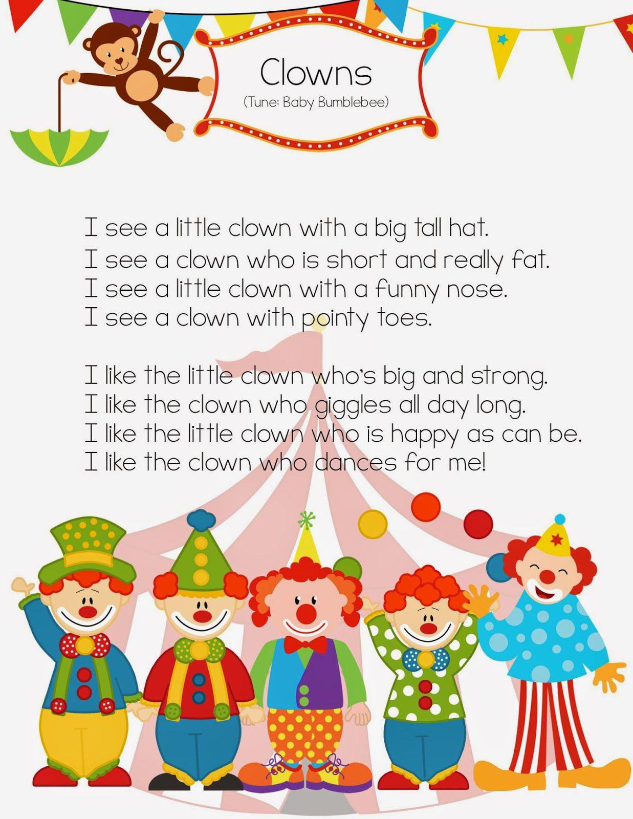 Clown Song Worksheet
