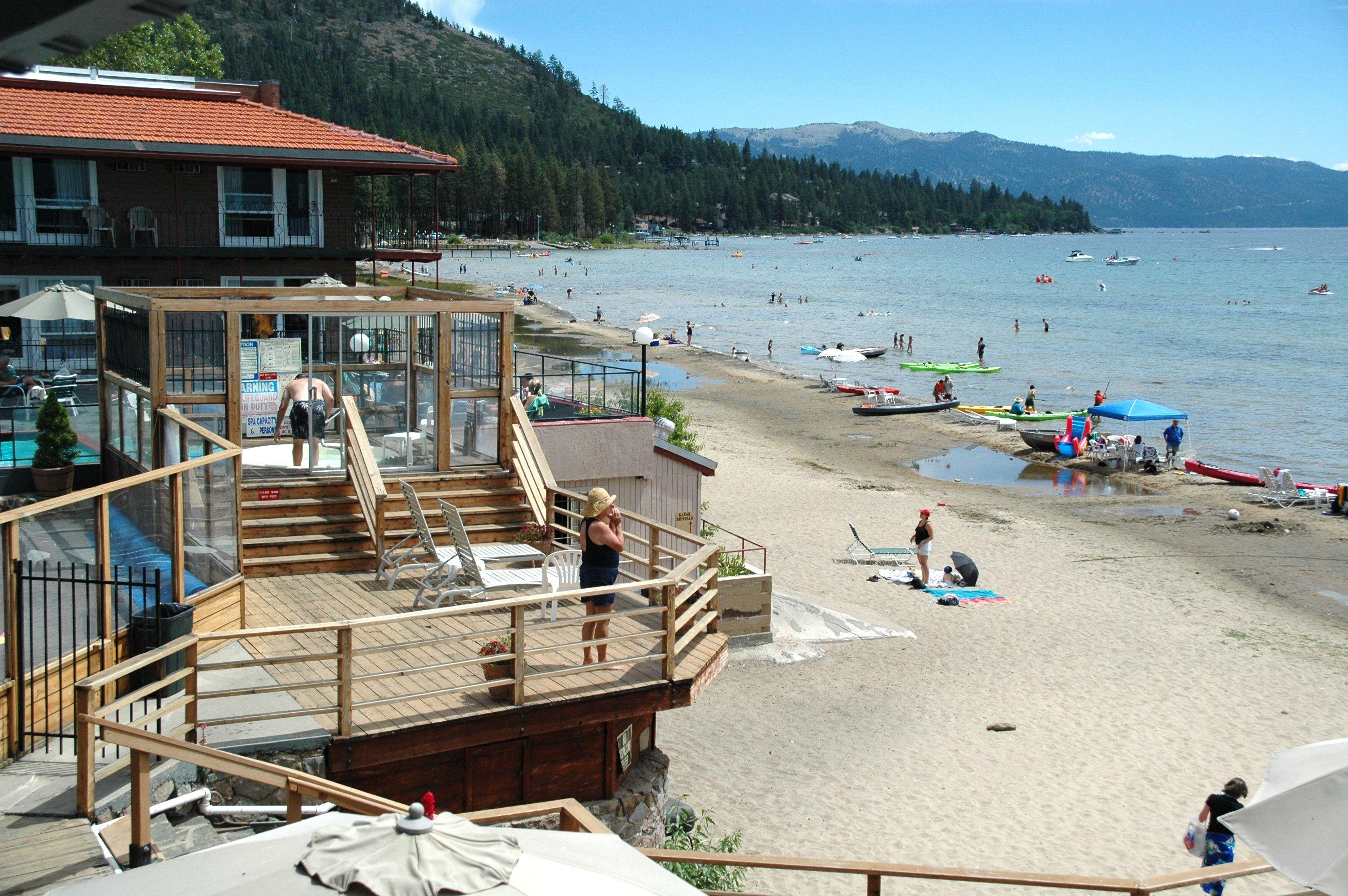 lake tahoe viewed from goldcrest motel in kings beach in. Black Bedroom Furniture Sets. Home Design Ideas