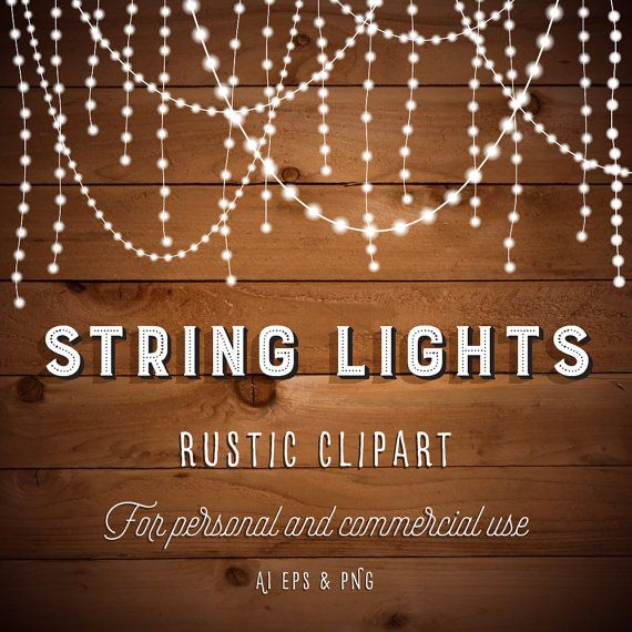 String Lights Clipart - Fairy Lights Clipart - Party ...