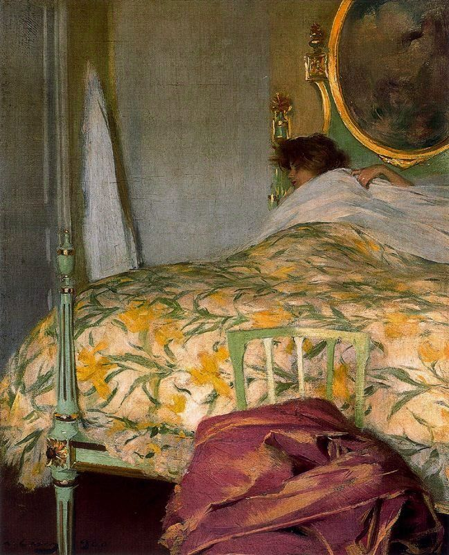 ◇ Artful Interiors ◇ paintings of beautiful rooms - Ramon Casas | La Grasse Matinée, 1900