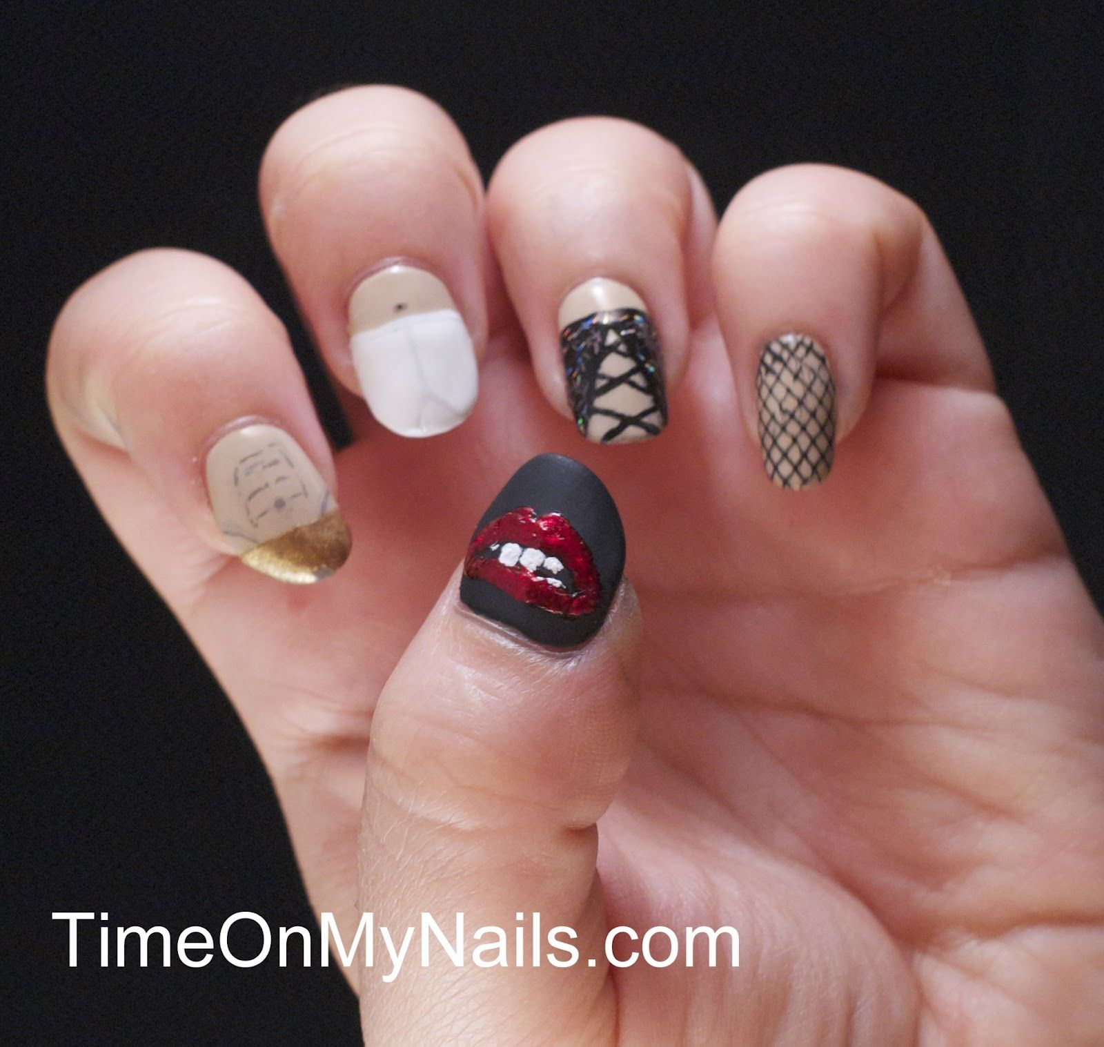 Rocky horror picture show nails | Nail art | Pinterest | Horror ...