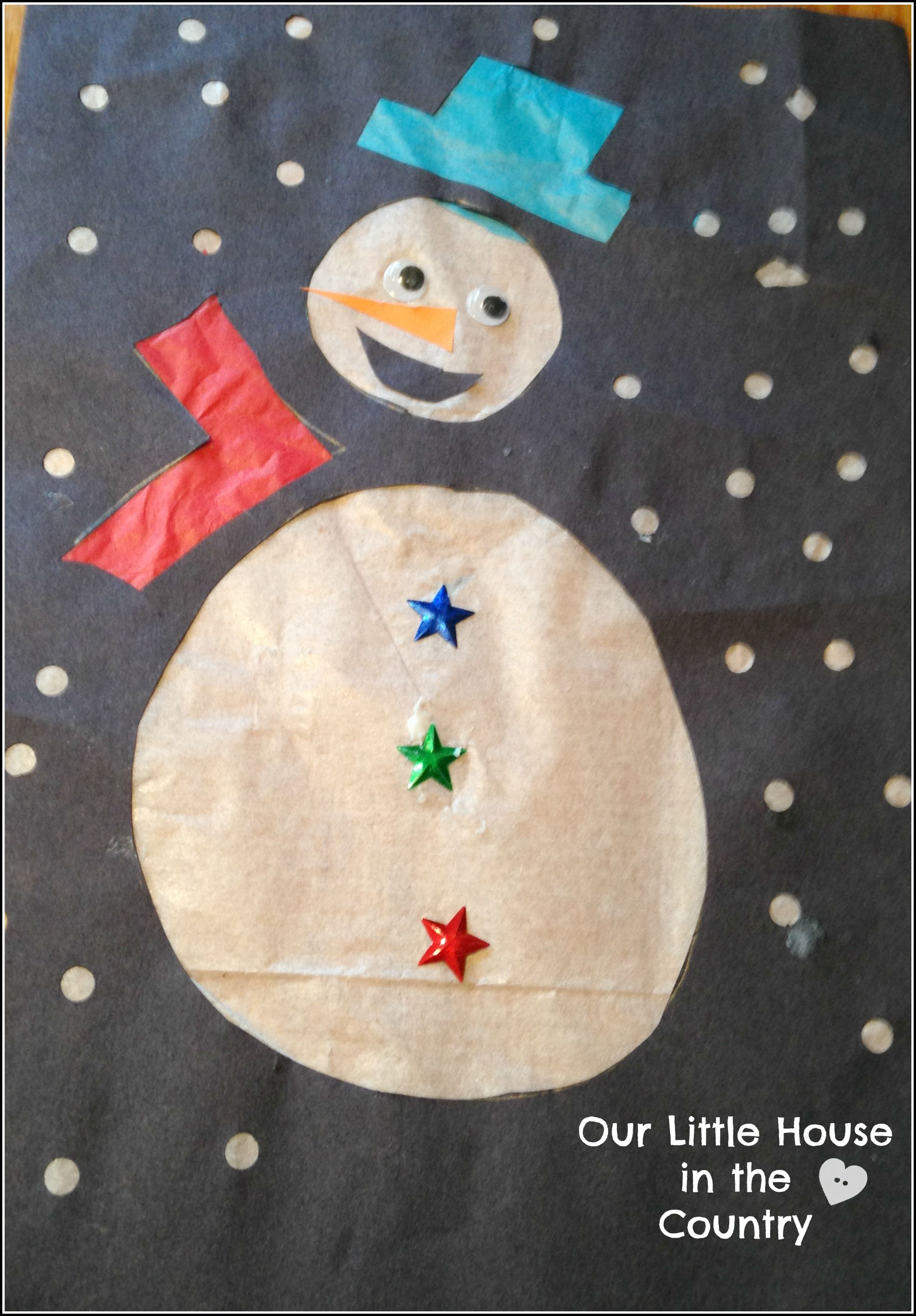Snowman Stained Glass Windows - Christmas Craft For Kids