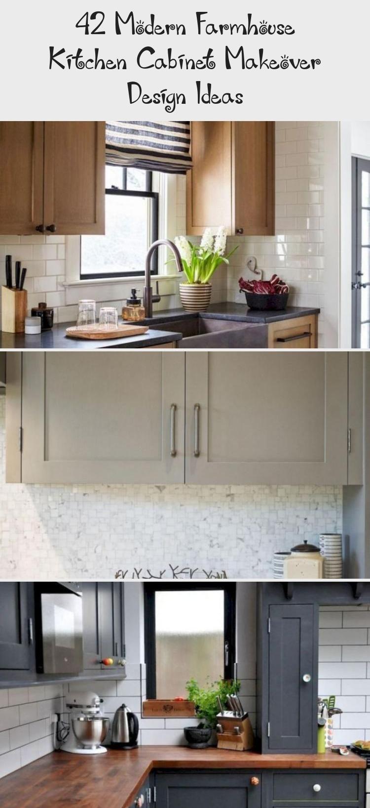 42 Modern Farmhouse Kitchen Cabinet Makeover Design Ideas Pinokyo In 2020 Farmhouse Kitchen Cabinets House Bathroom Kitchen Cabinets Makeover