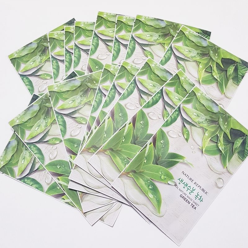 Nature Republic Real Natural Facial Masks Green Tea 23ml 3/7/14/30 Sheets Lot #NatureRepublic