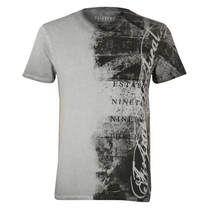 Firetrap Blackseal V Neck Flag T Shirt