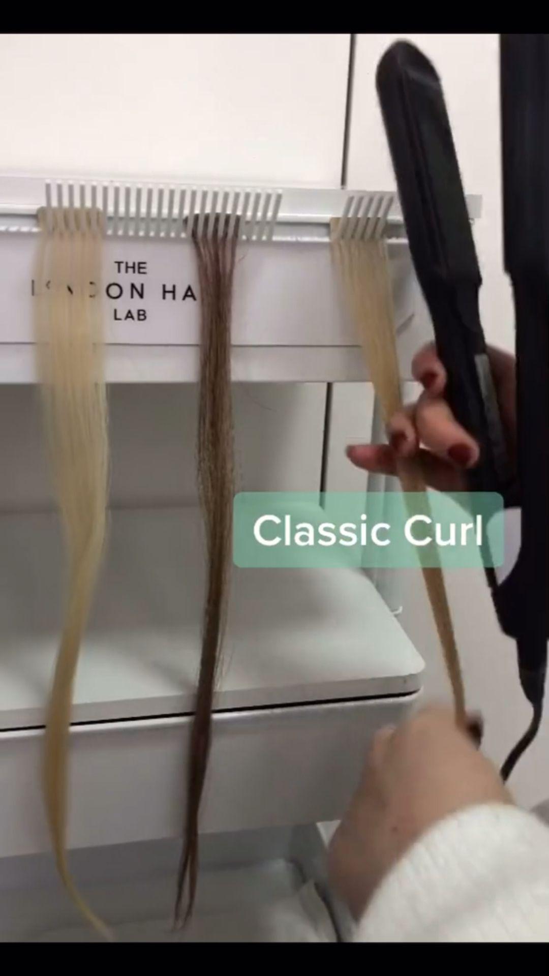 FLAT IRON CURLS hair tutorial. Tiktok viral video.