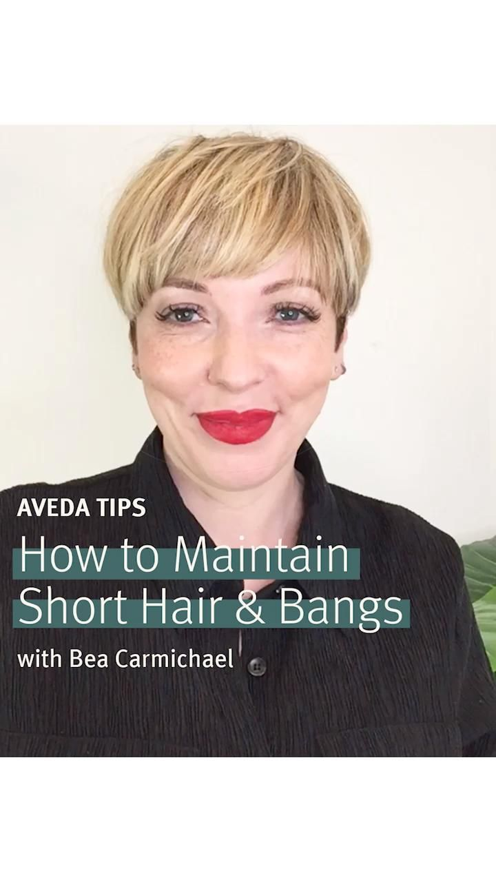 Hair hack every girl with short hair and bangs sho